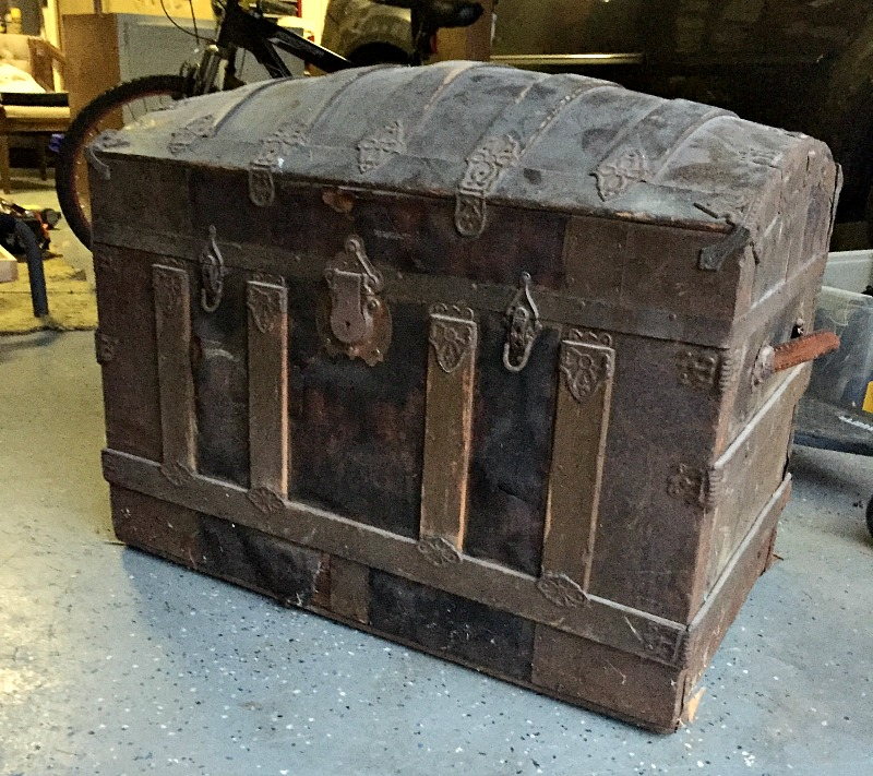antique trunk before
