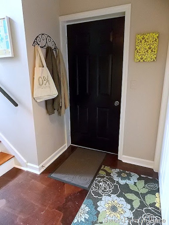 mudroom wall before