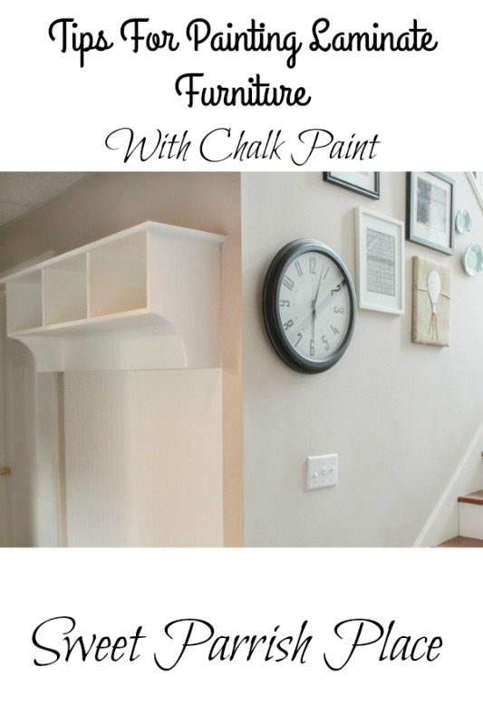 painting laminate furniture with chalk paint