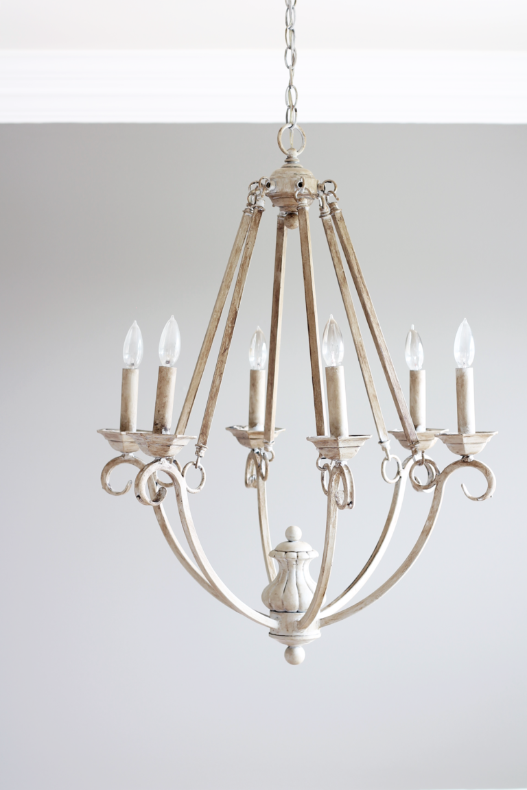 chalk painted chandelier-totally terrific tuesday #130 weekly favorite