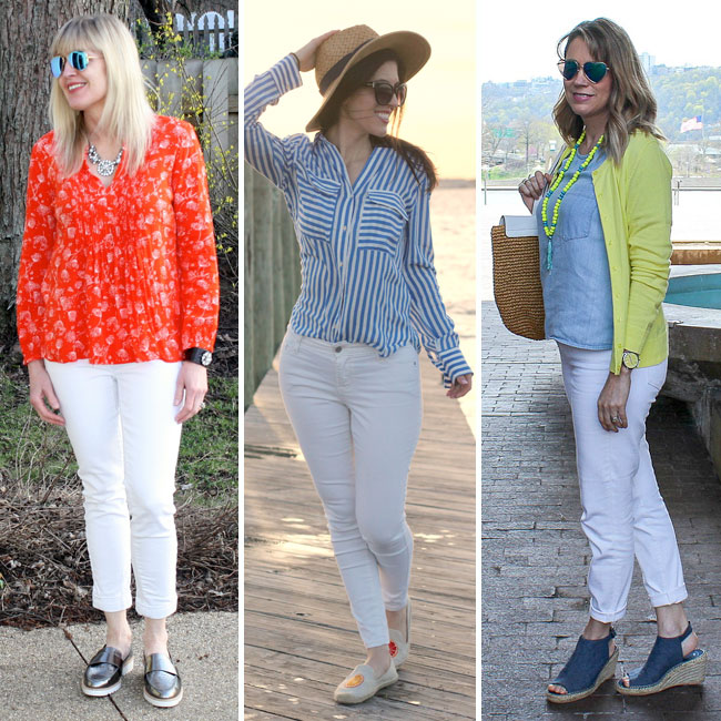6 ways to style white pants