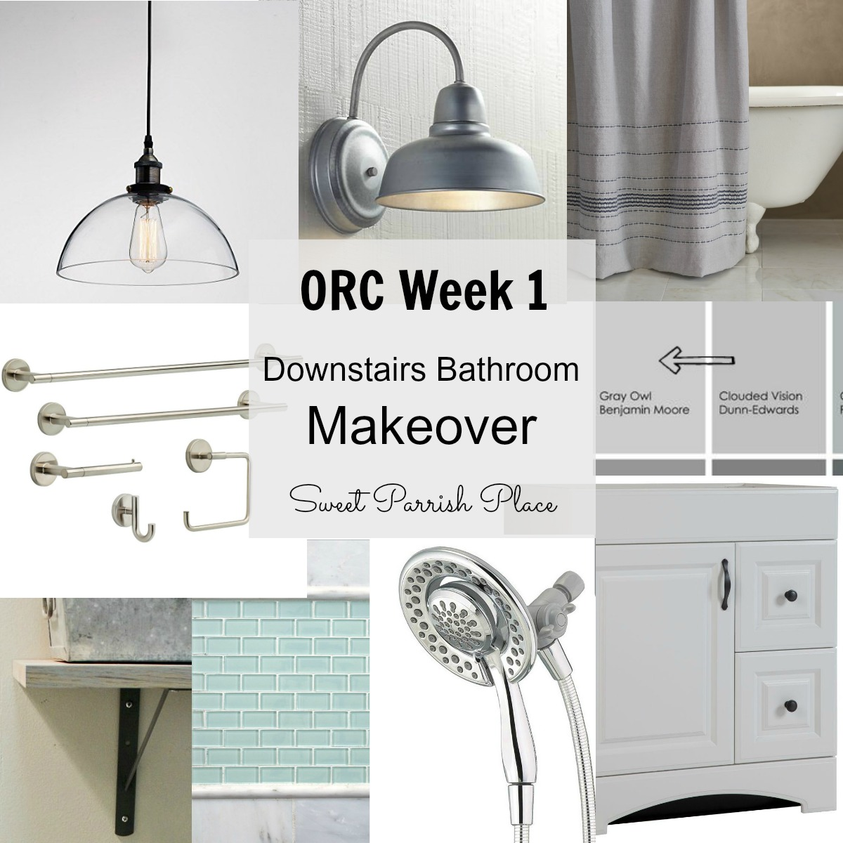 Downstairs bathroom makeover plans