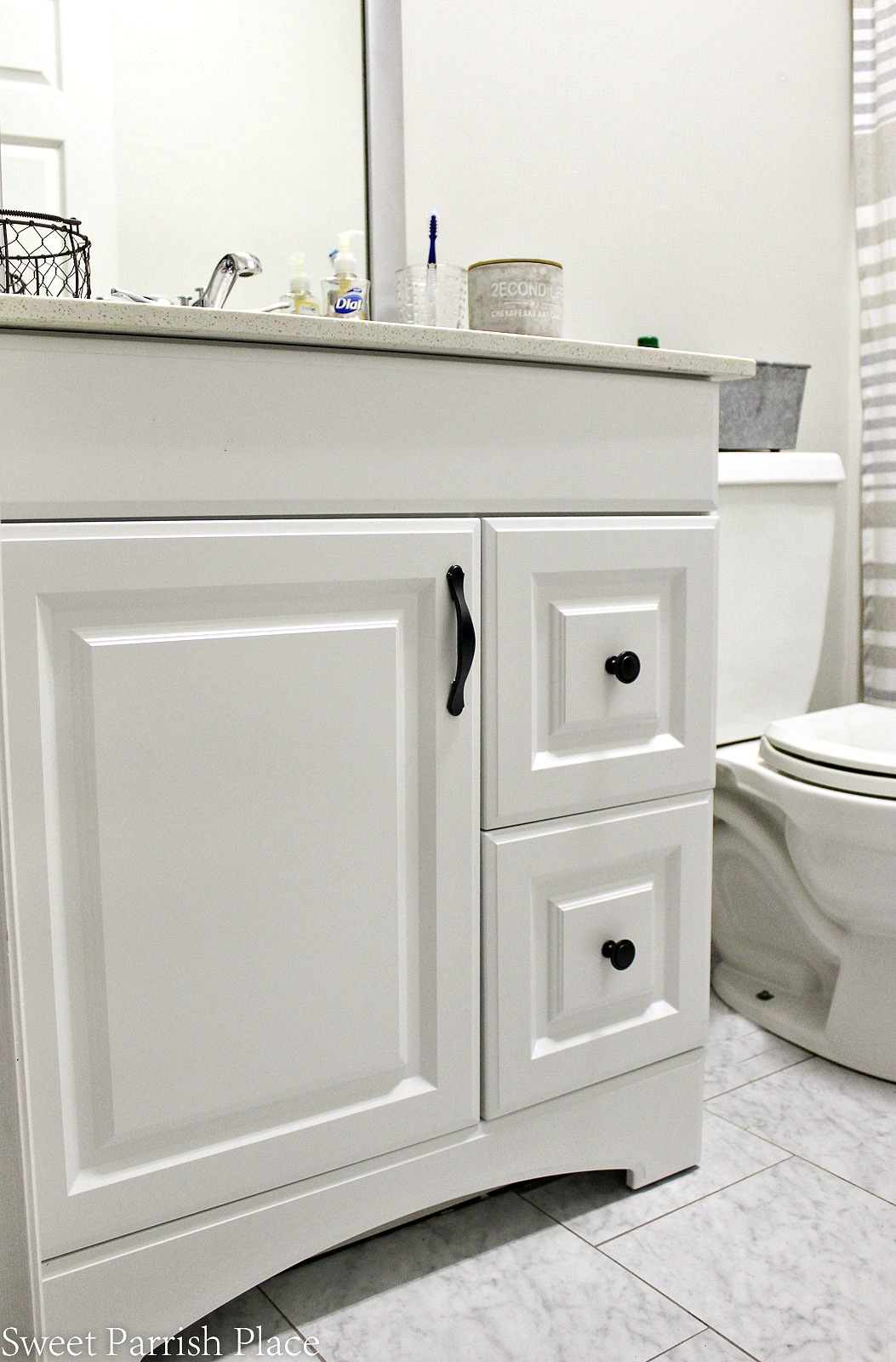 Week 2 of the ORC and our downstairs bathroom makeover with a new sink and new paint color