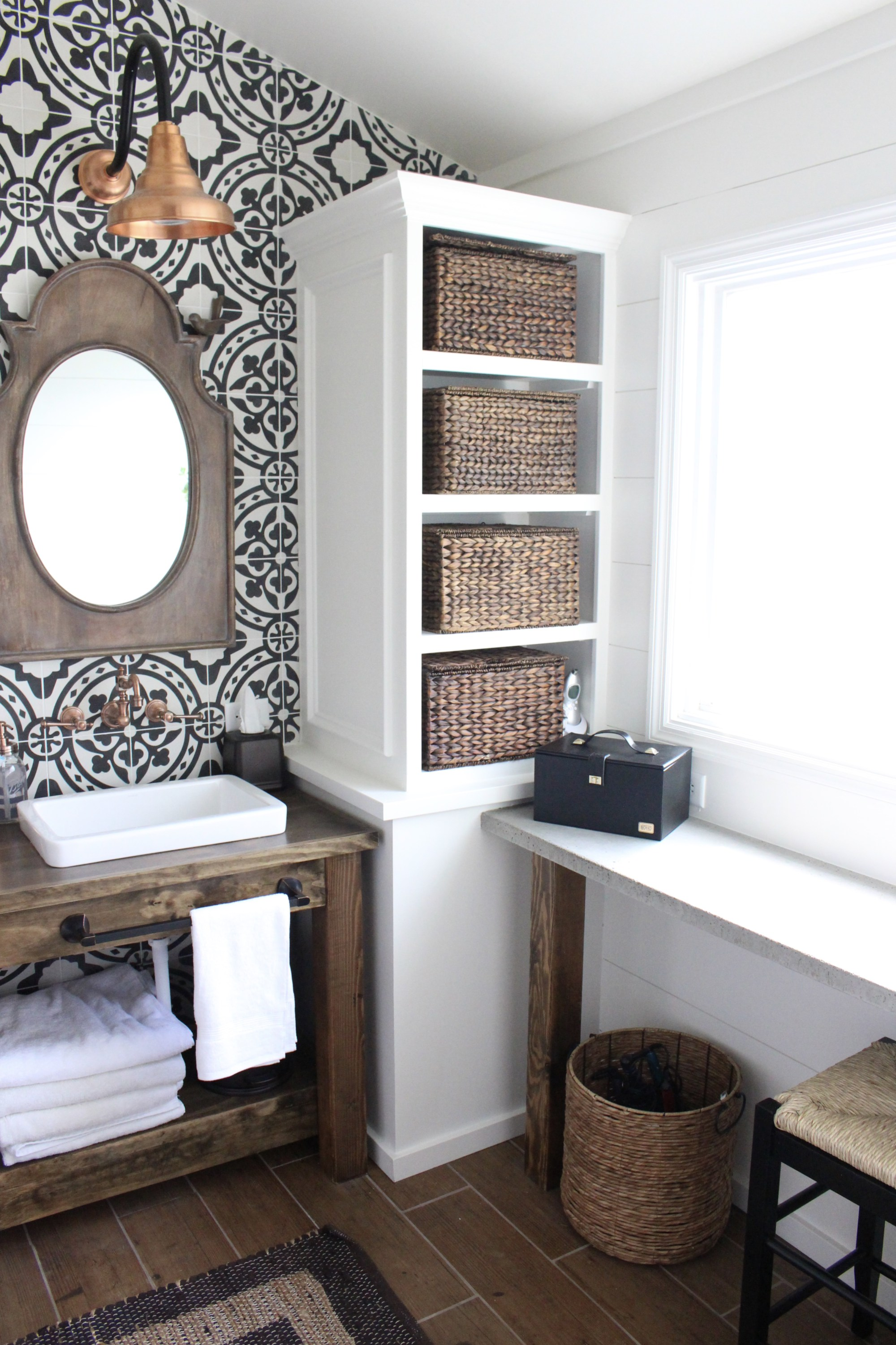 modern farmhouse bathroom makeover-Totally Terrific Tuesday #133