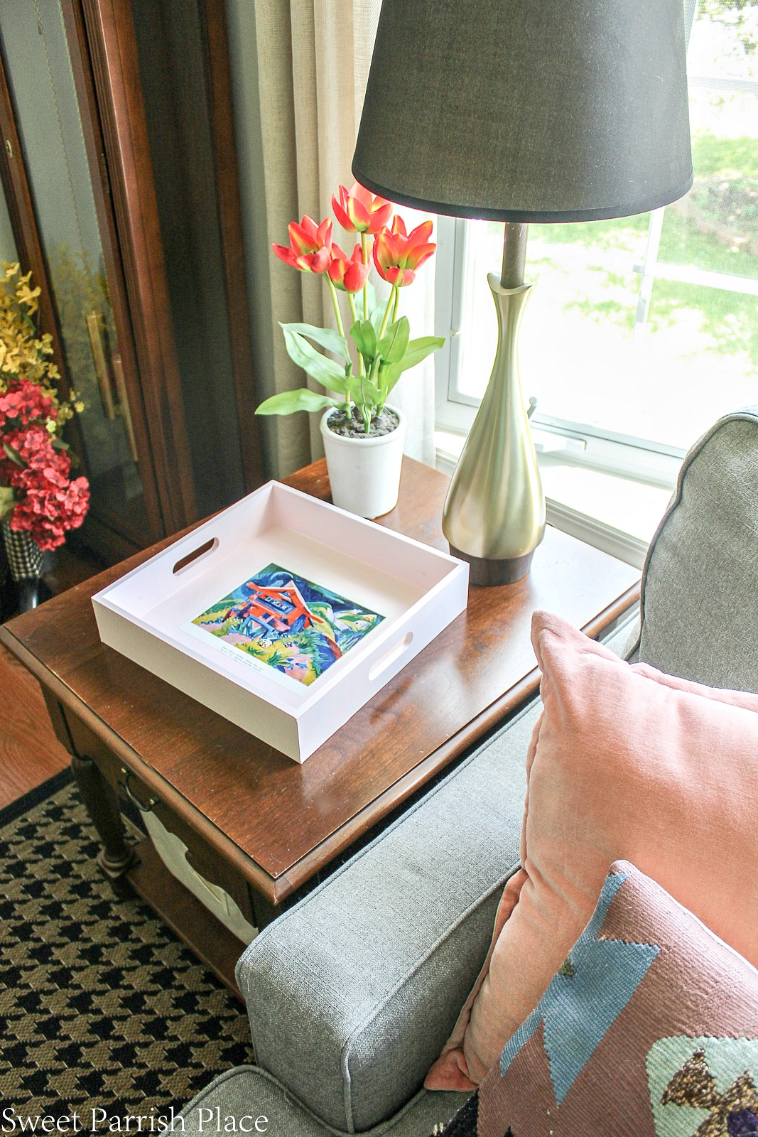 Vintage art tray makeover
