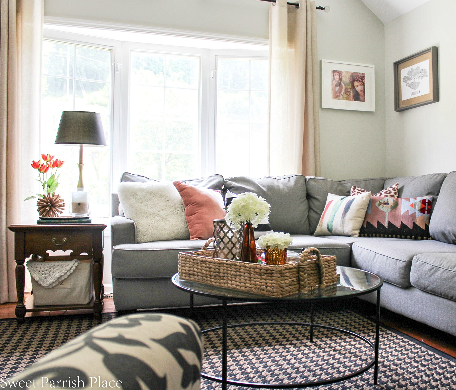 summer home tour sectional sofa