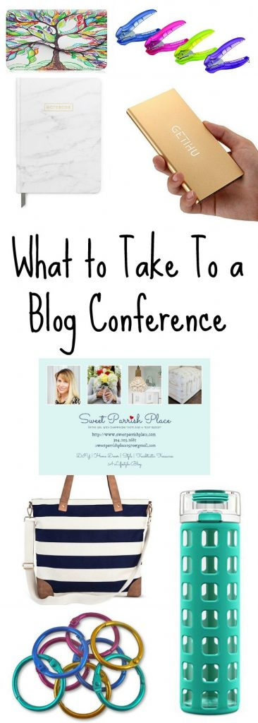 What To Take To A Blog Conference