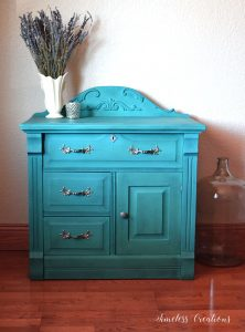 DIY curved pediment on wash stand