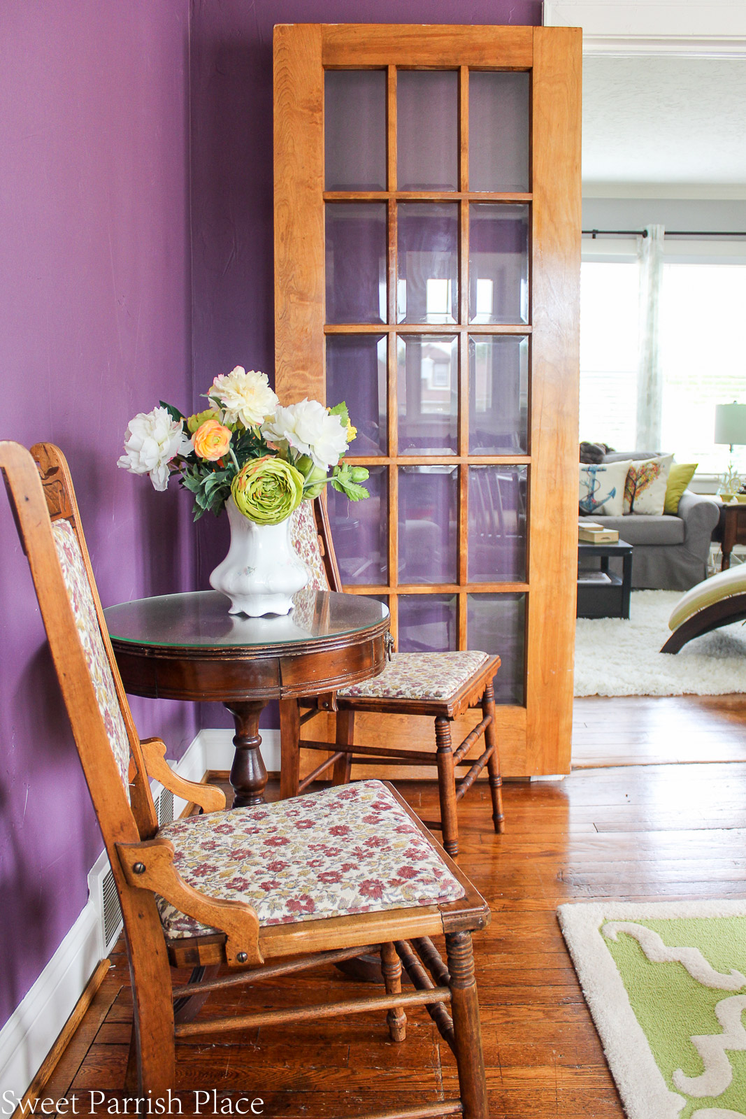 97 year old home tour-vintage chairs