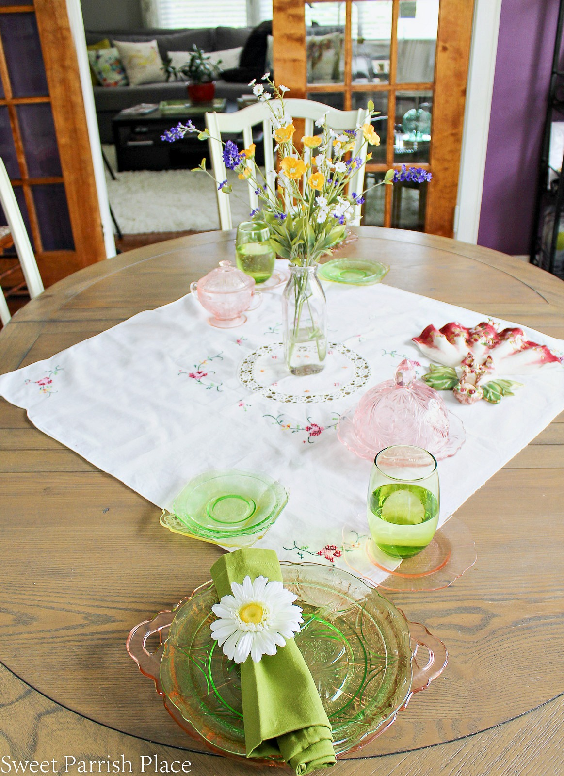 97 year old home tour- dining table setting