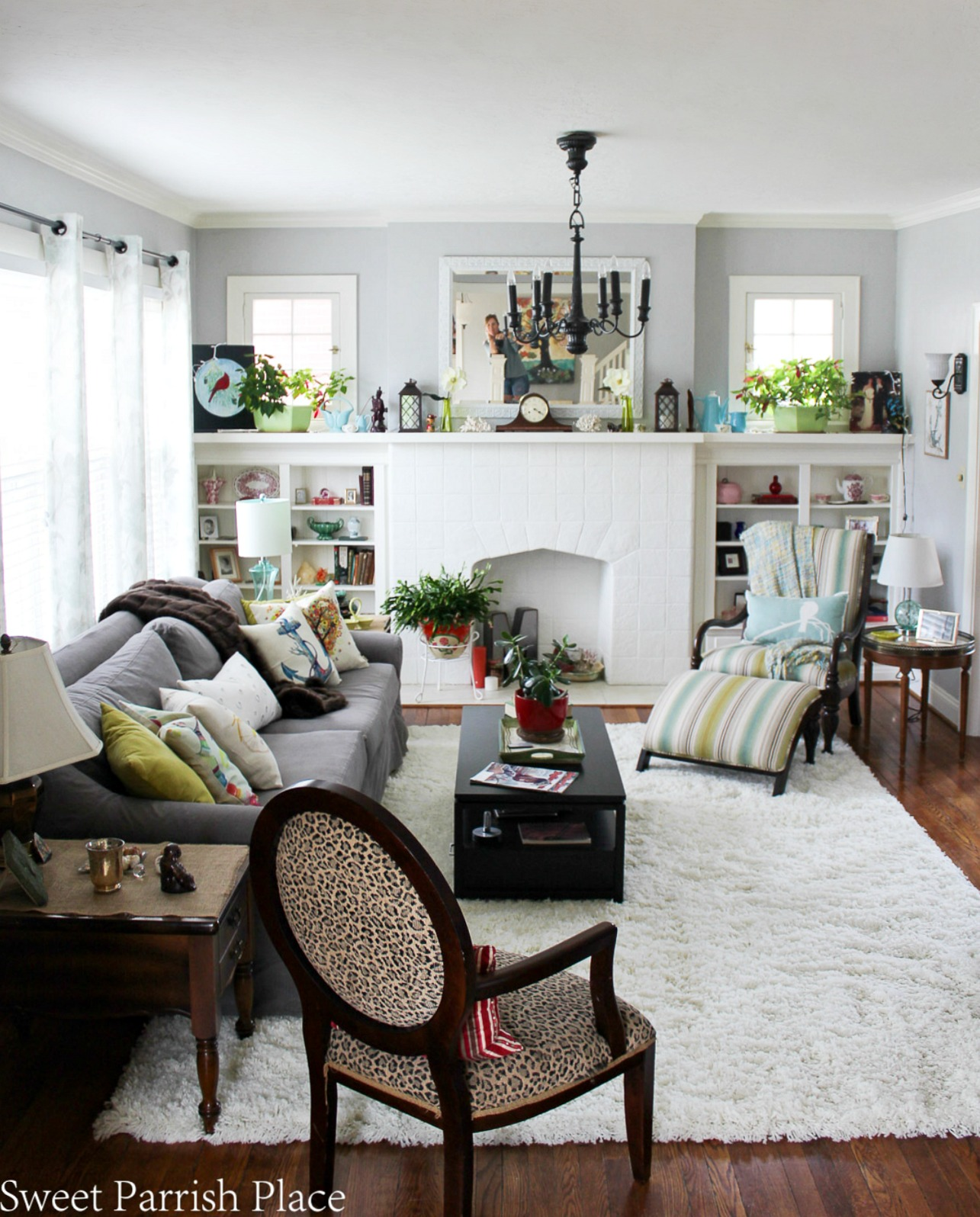 97 year old home tour-living room