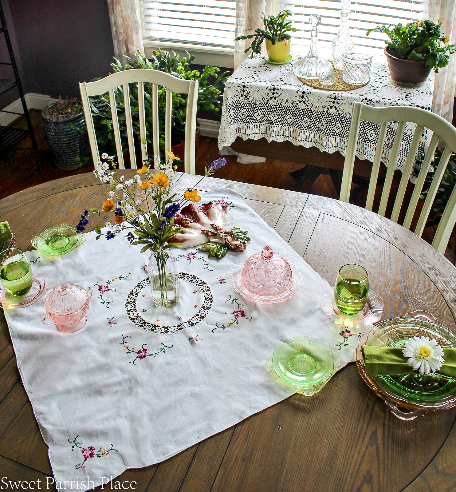 97 year old home tour-table setting