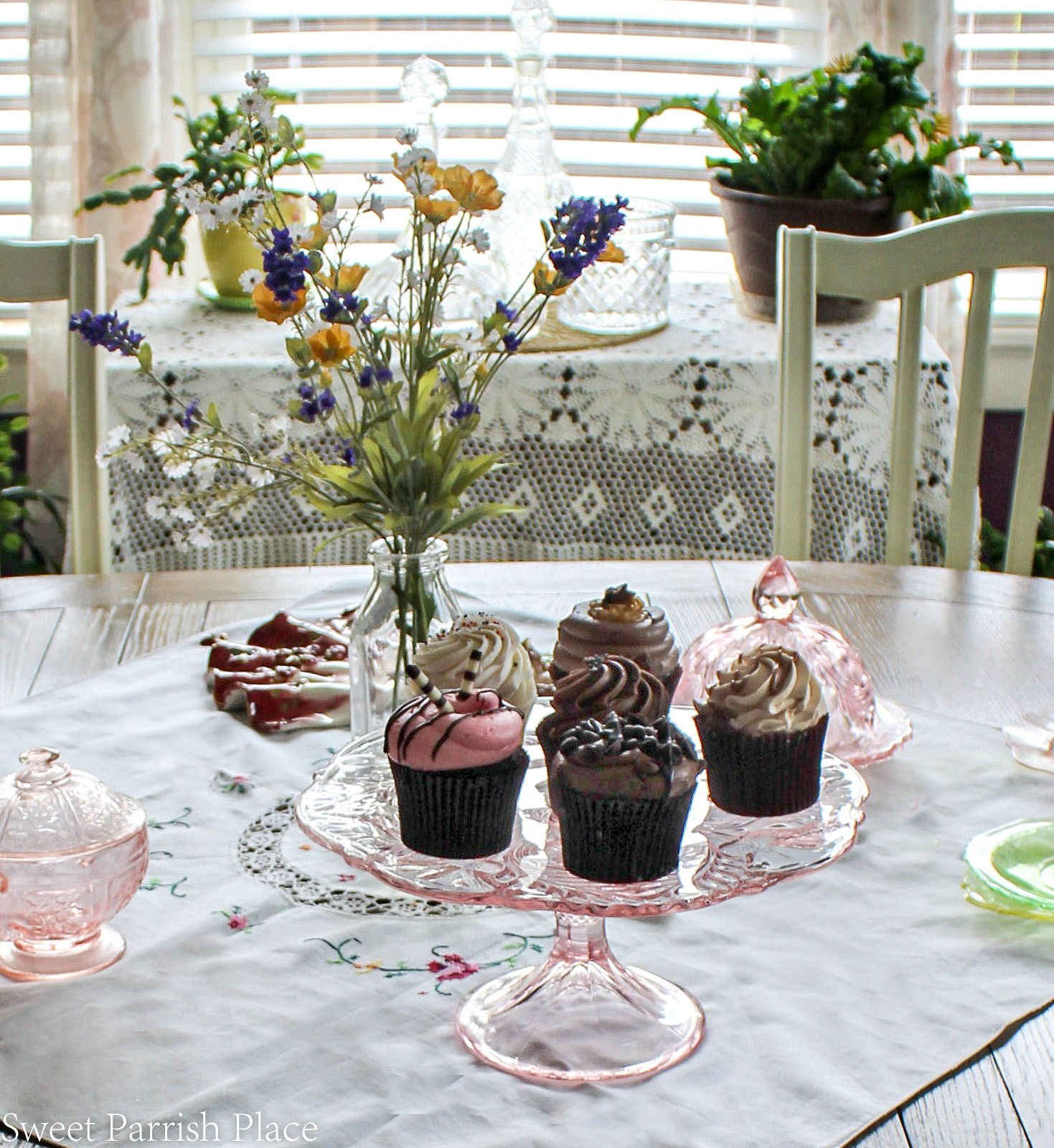 97 year old home tour-cupcakes on table