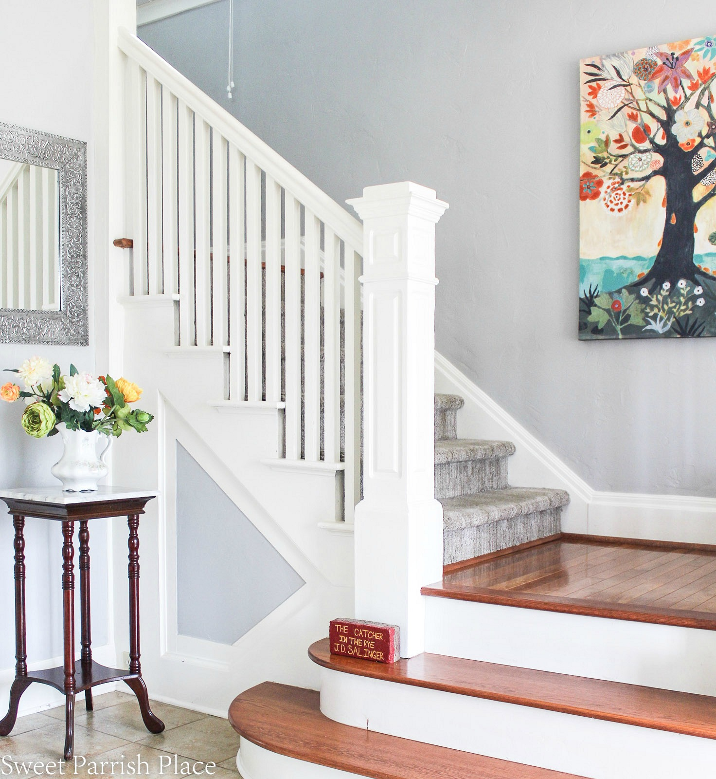 97 year old home tour-stairwell