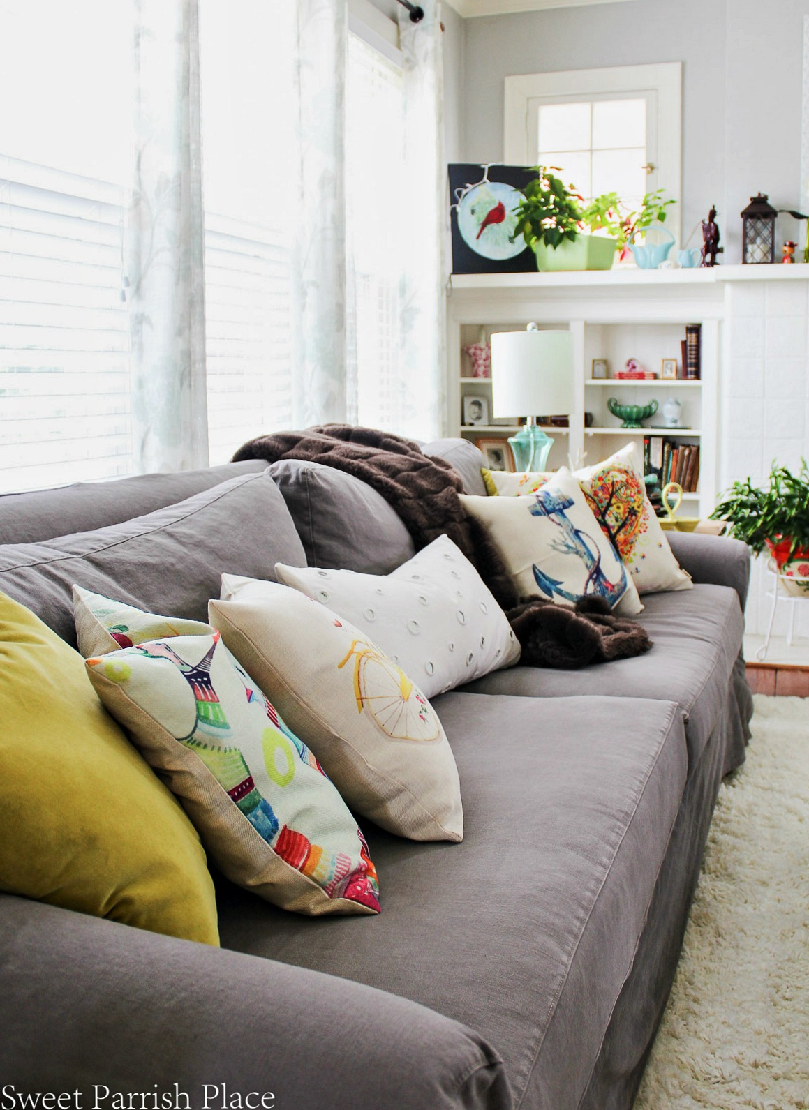 97 year old home tour-Pottery Barn Sofa