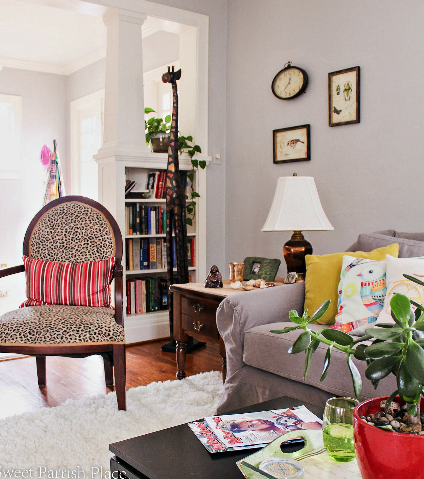 97 year old home tour-leopard-chair