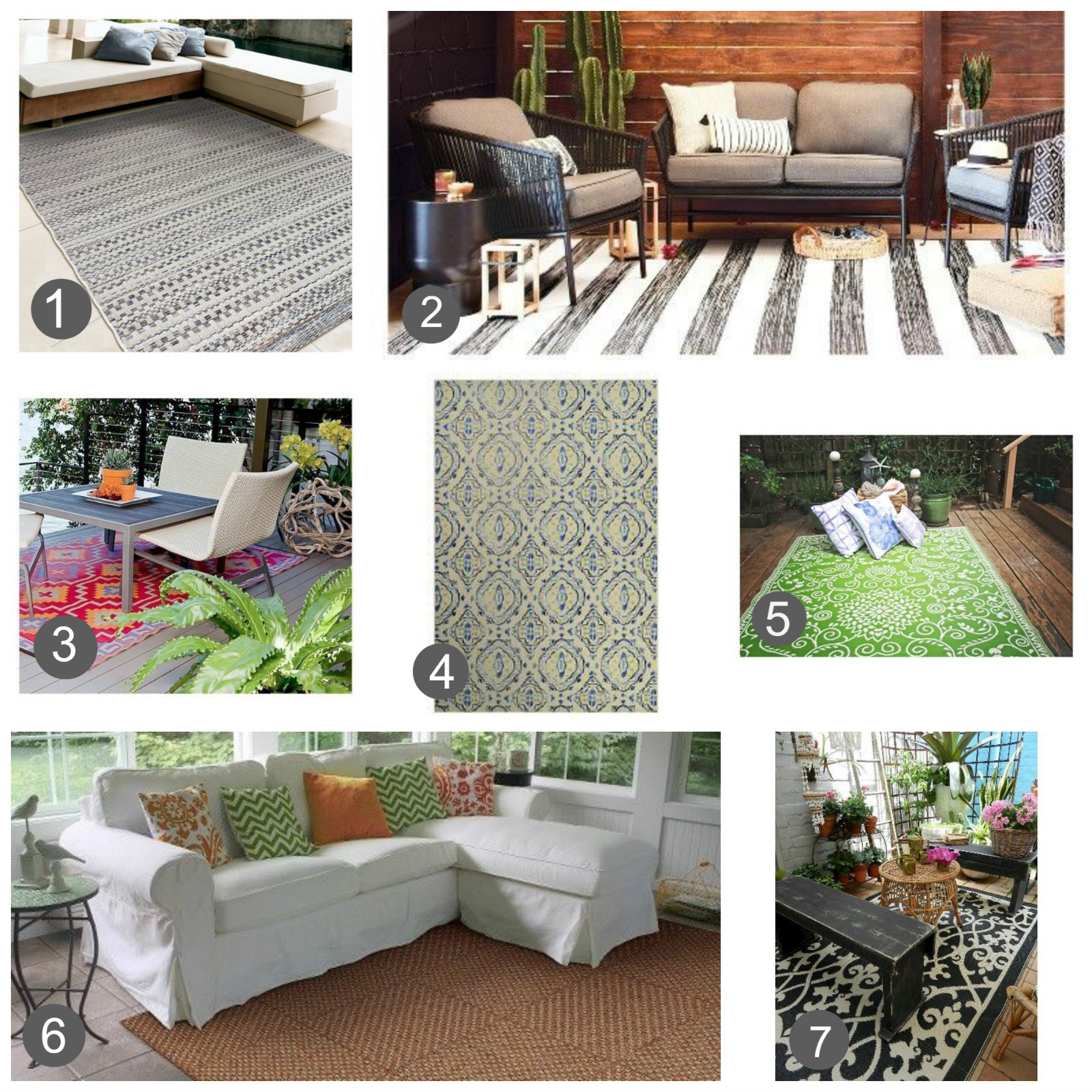 best outdoor rugs for indoor use