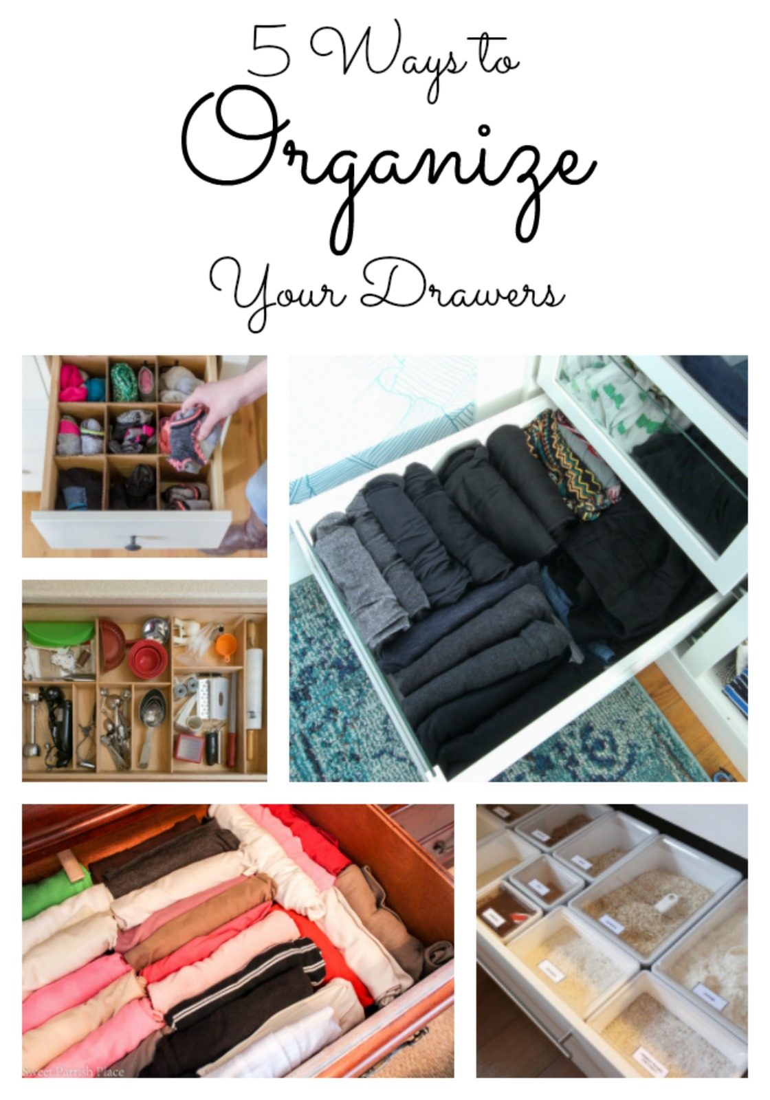 Today I'm sharing 5 creative ideas you can use to organize your drawers.