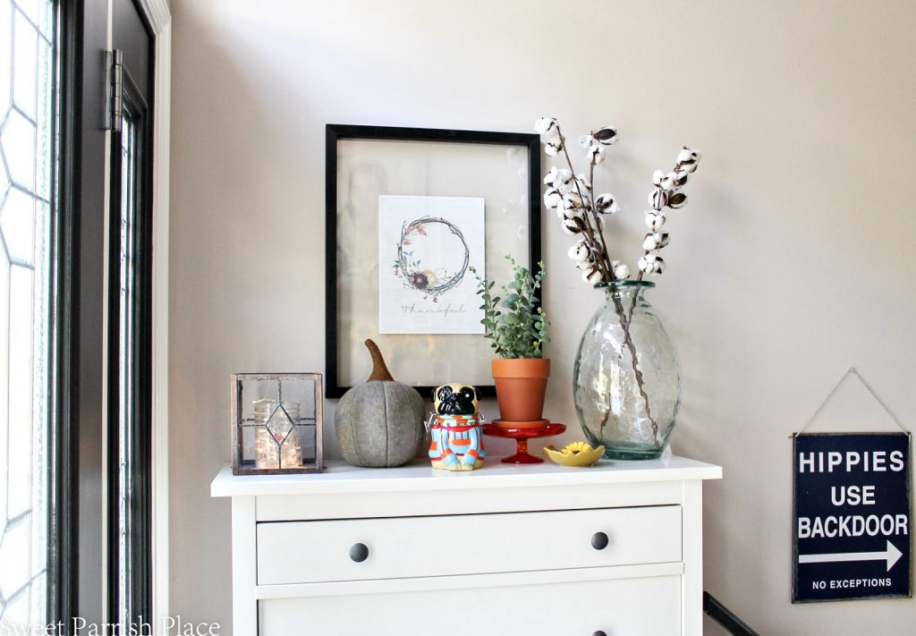 Fall Home Tour   Part One- Entryway and Mudroom