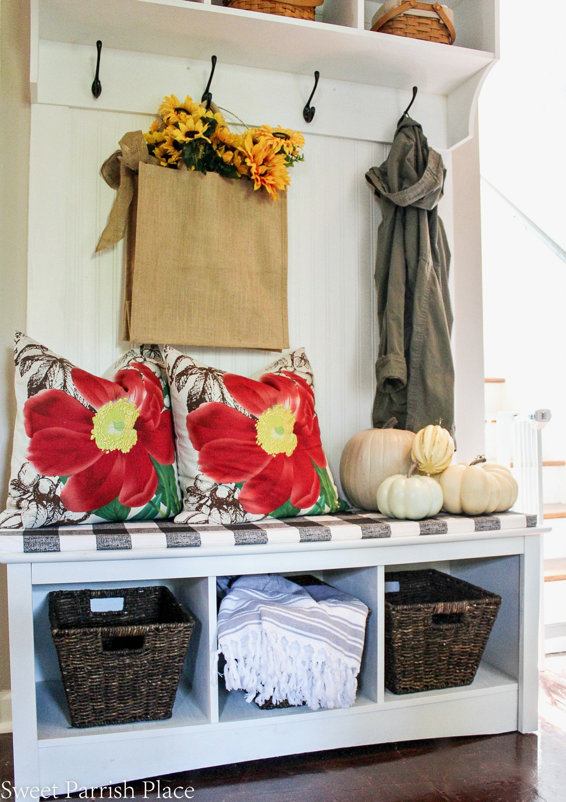 fall mudroom