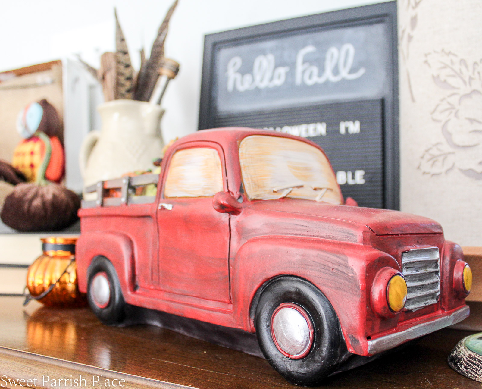 vintage inspired truck for fall
