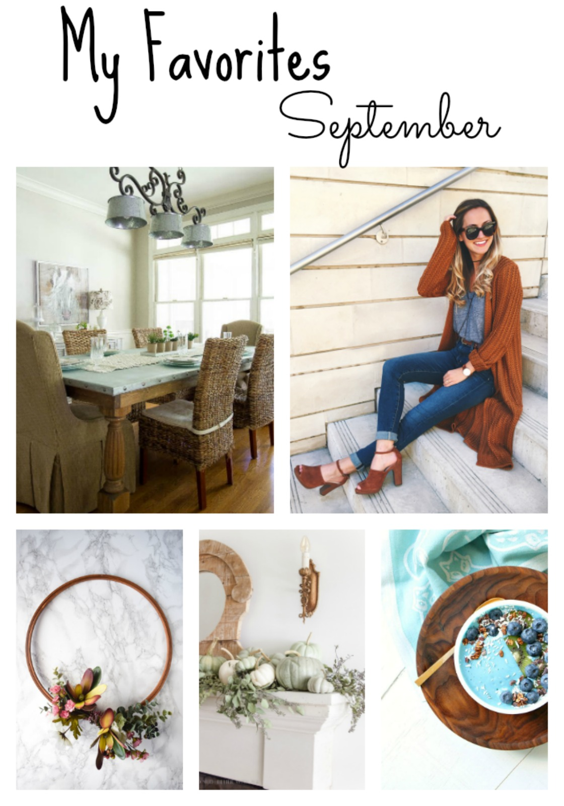 September my favorites collage