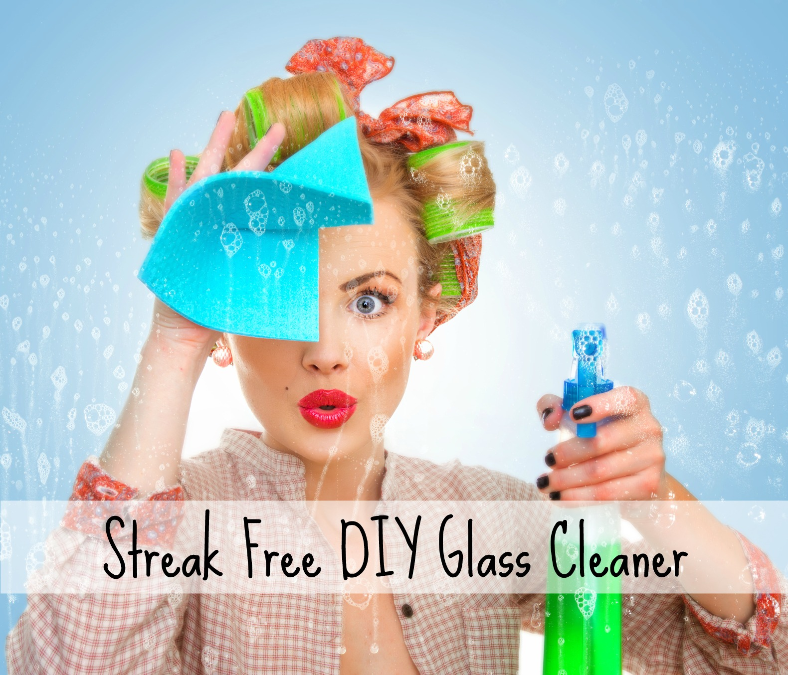 This is my fail proof recipe for streak free DIY glass cleaner.