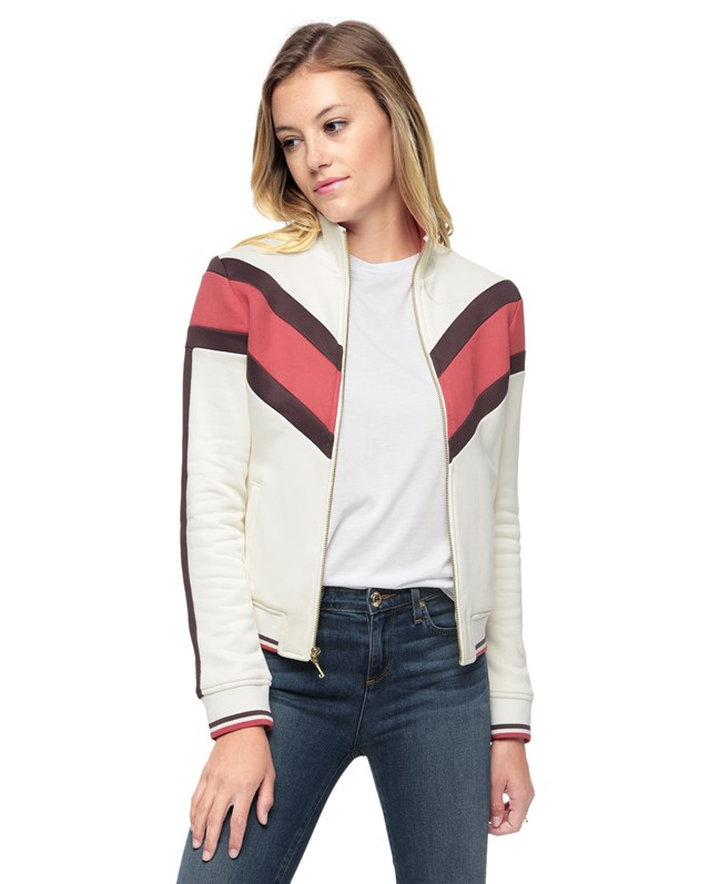 color block french terry jacket