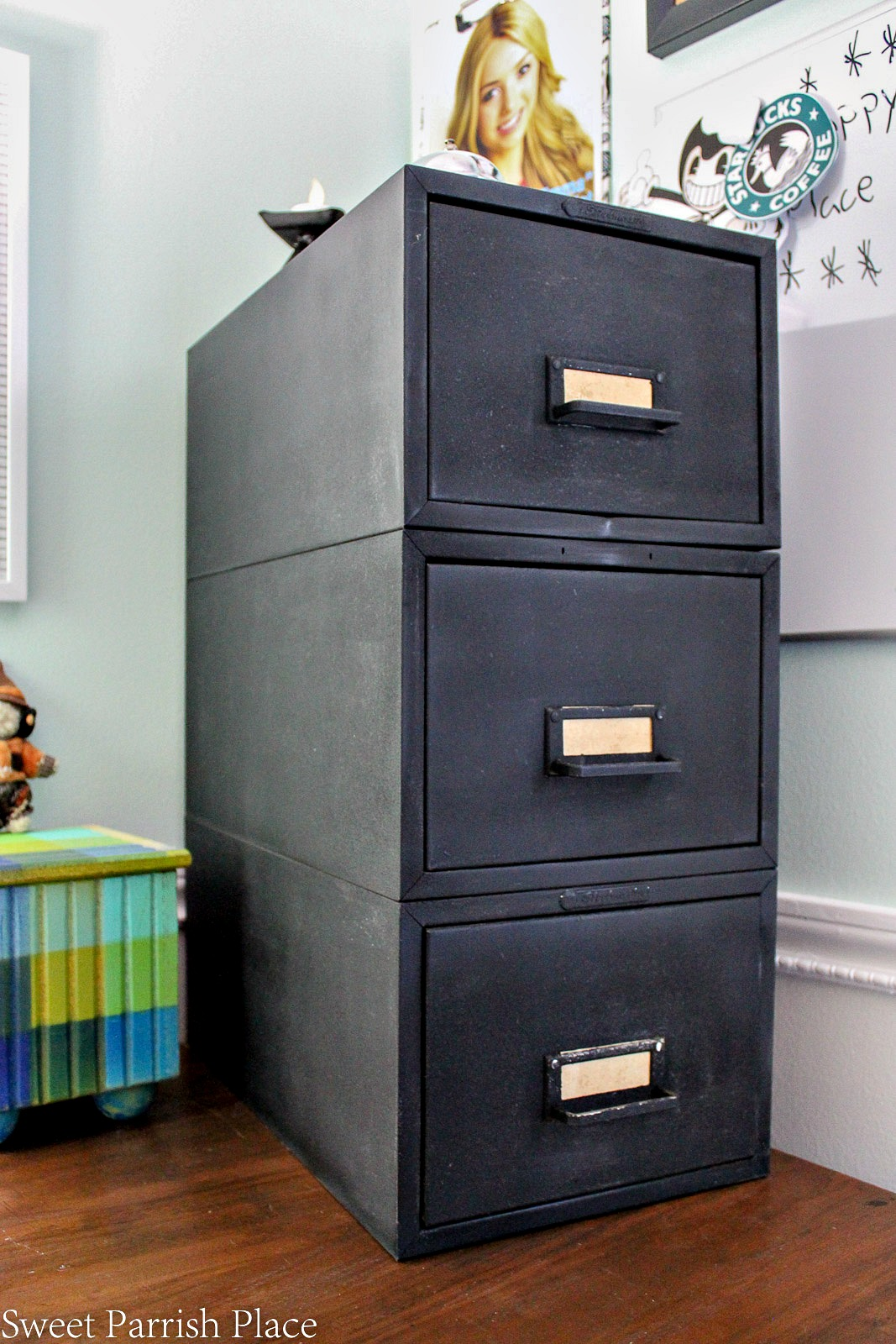 how to make over a file cabinet