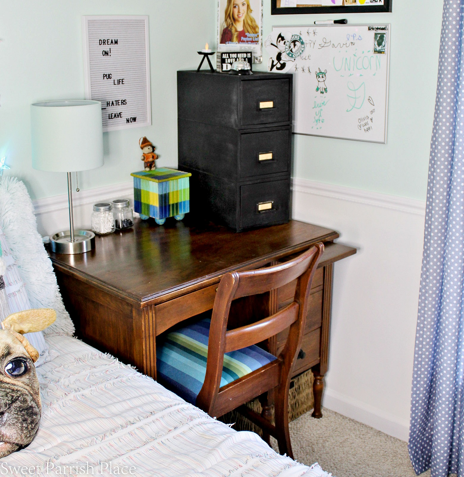 desk area for boys bedroom makeover