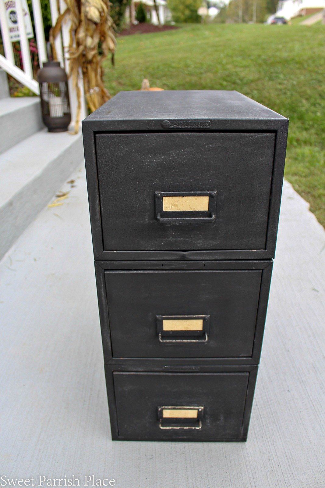 file cabinet makeover after
