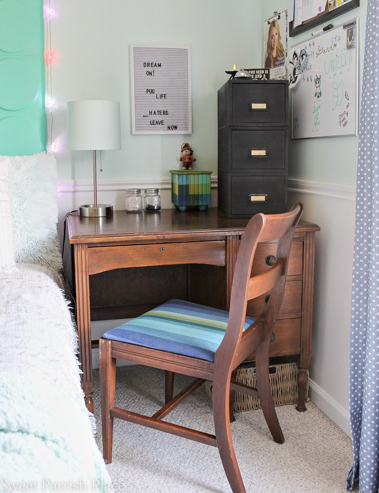 rustic file cabinet makeover