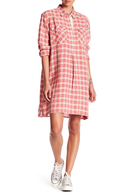 western plaid dress
