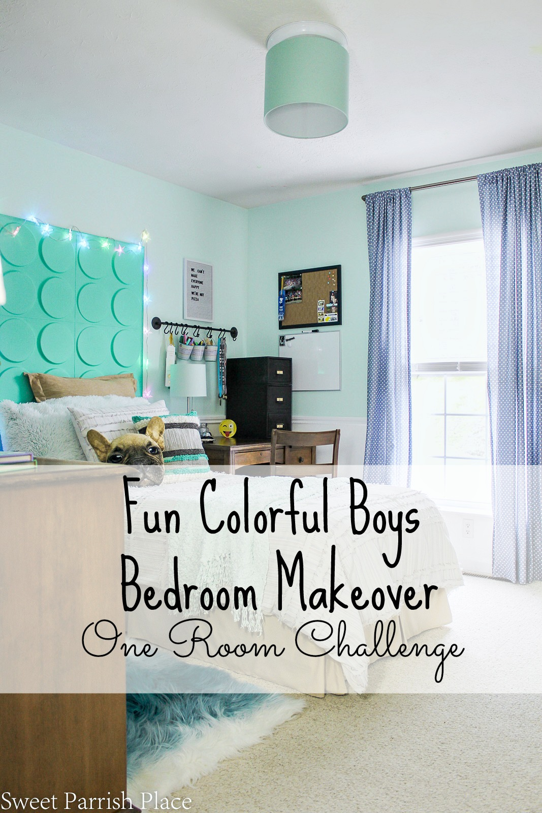 It's been 7 weeks in the making but today is the day and I'm so excited to share my boys bedroom makeover for the Fall One Room Challenge!