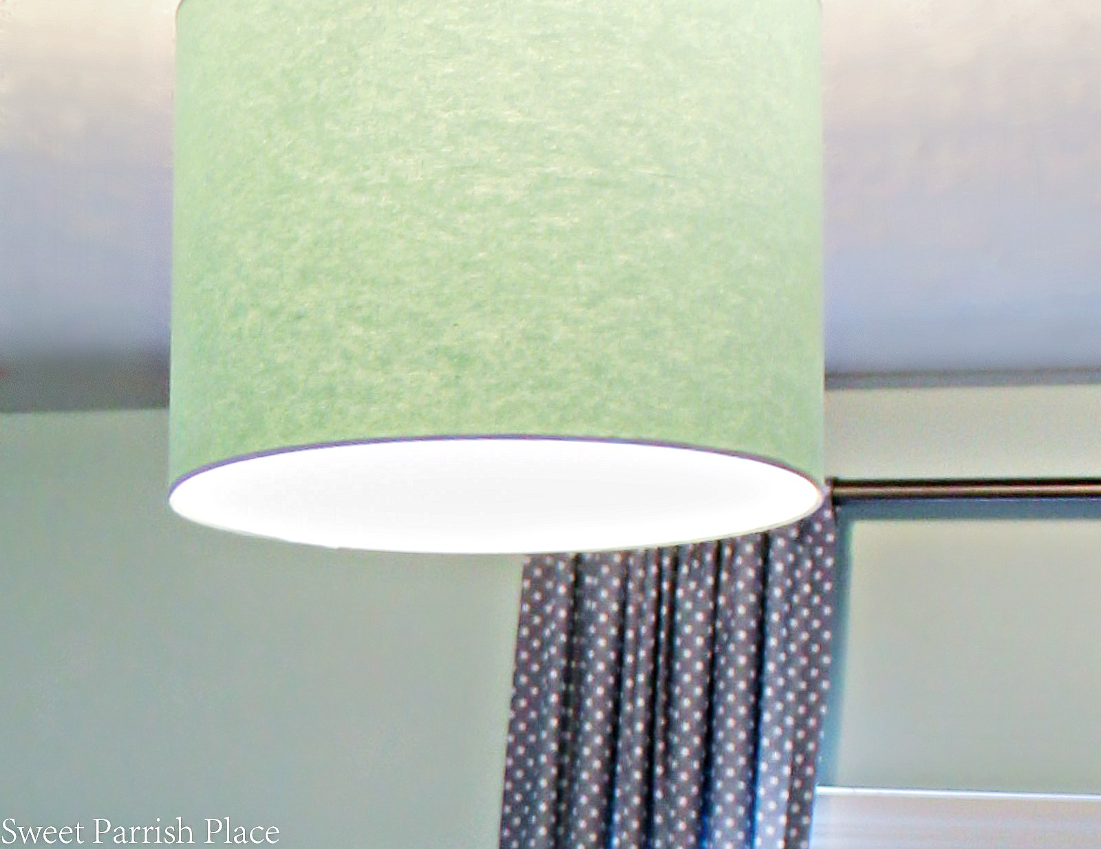 It's week 5 of the One Room Challenge, and I'm sharing my updated ceiling light for less than $15.