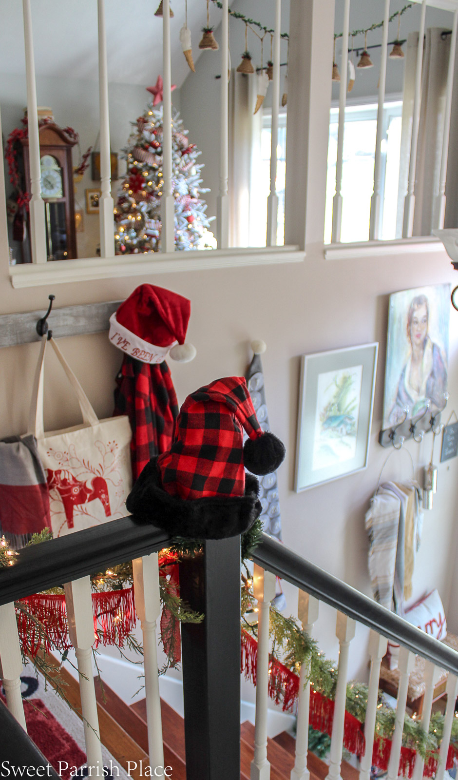 boho chic Christmas entryway 7
