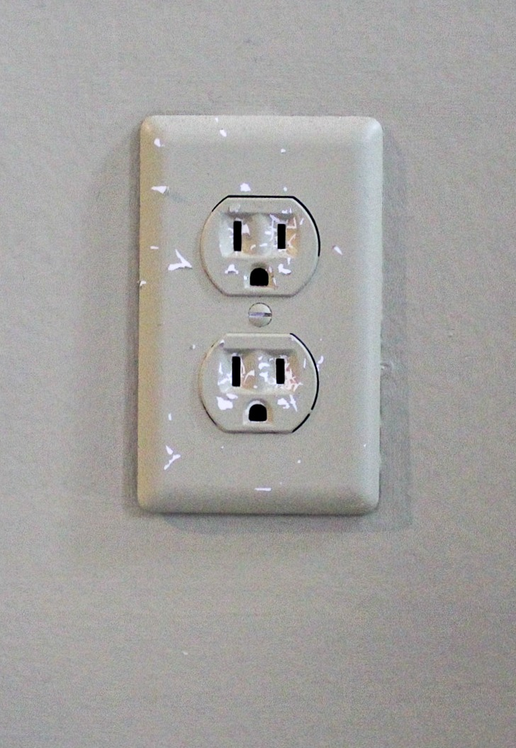 electric outlet before