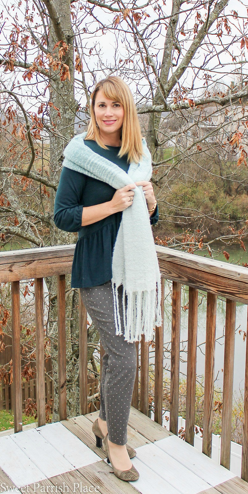 Teal cozy scarf 2