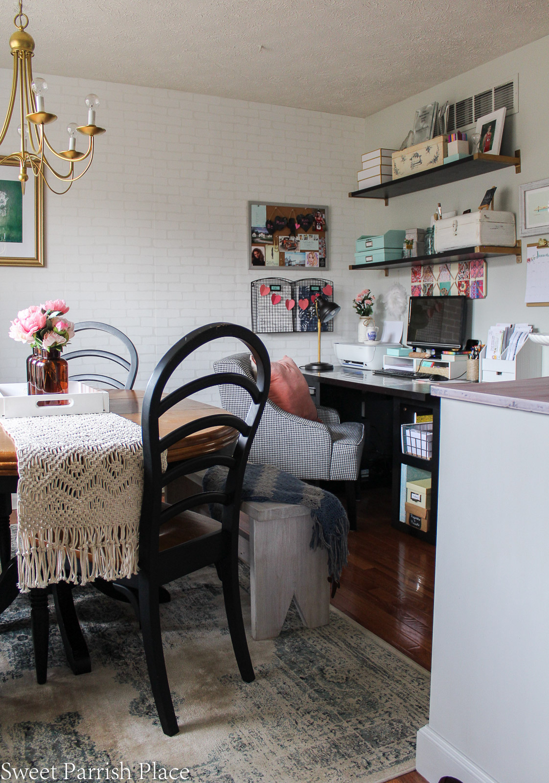 modern farmhouse dining room office