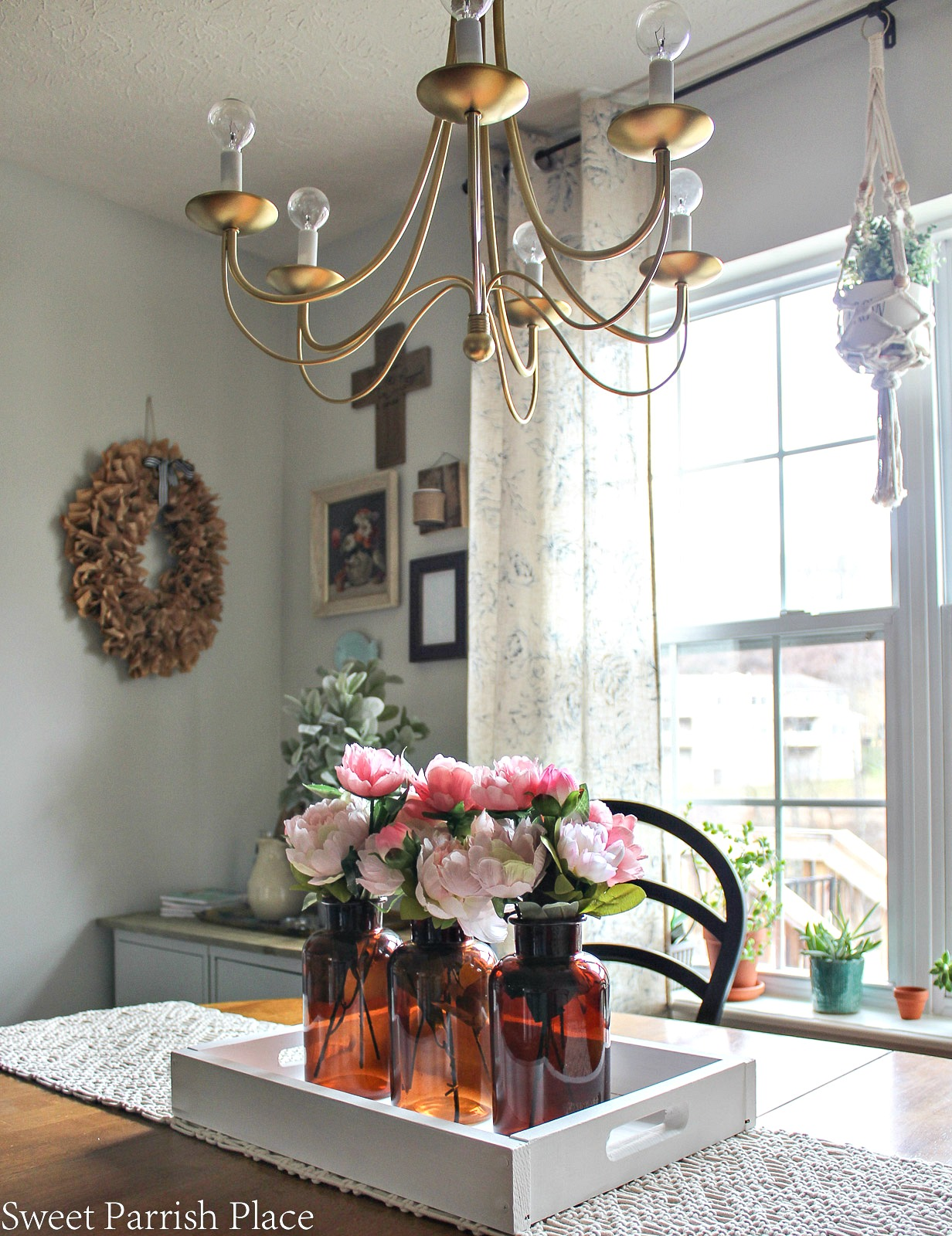Modern Farmhouse Dining Room Office Reveal
