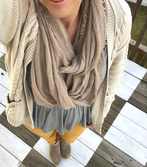 mustard pants with neutrals