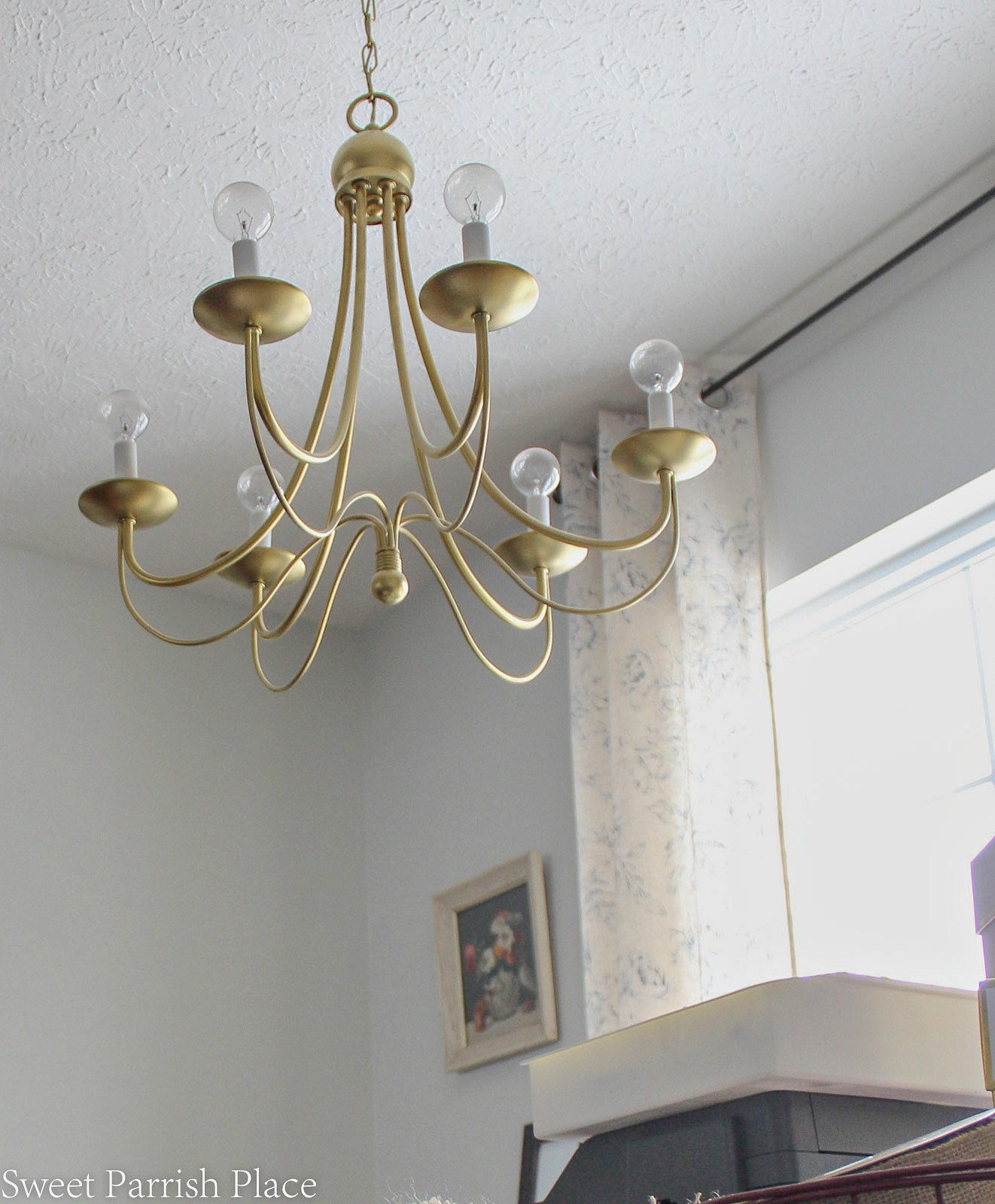 gold painted chandelier