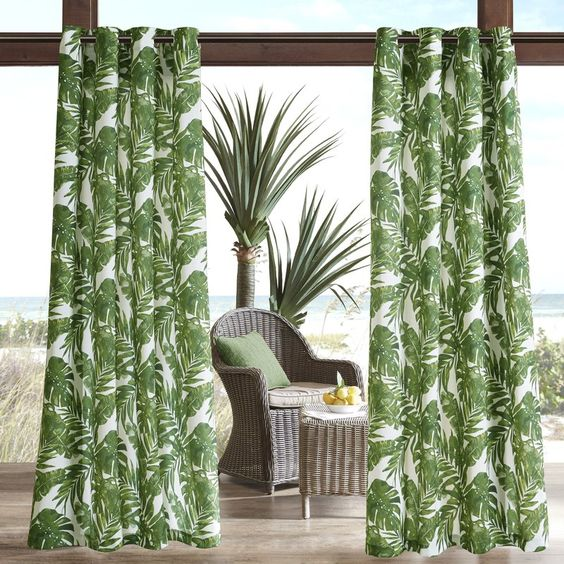 bridgewood palm leaf curtain wayfair