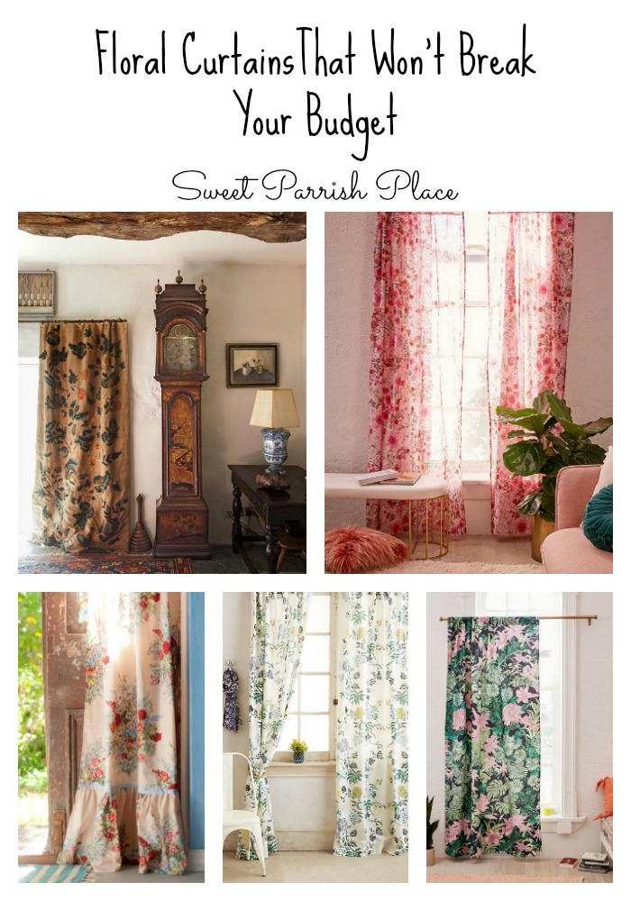 Affordable Floral Curtains O Sweet Parrish Place