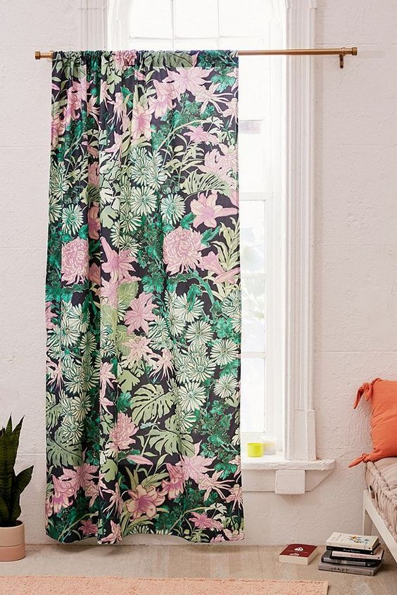 laurel kimono floral curtain urban outfitters