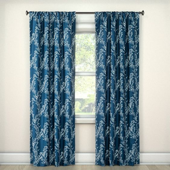 meadow floral blue curtain target