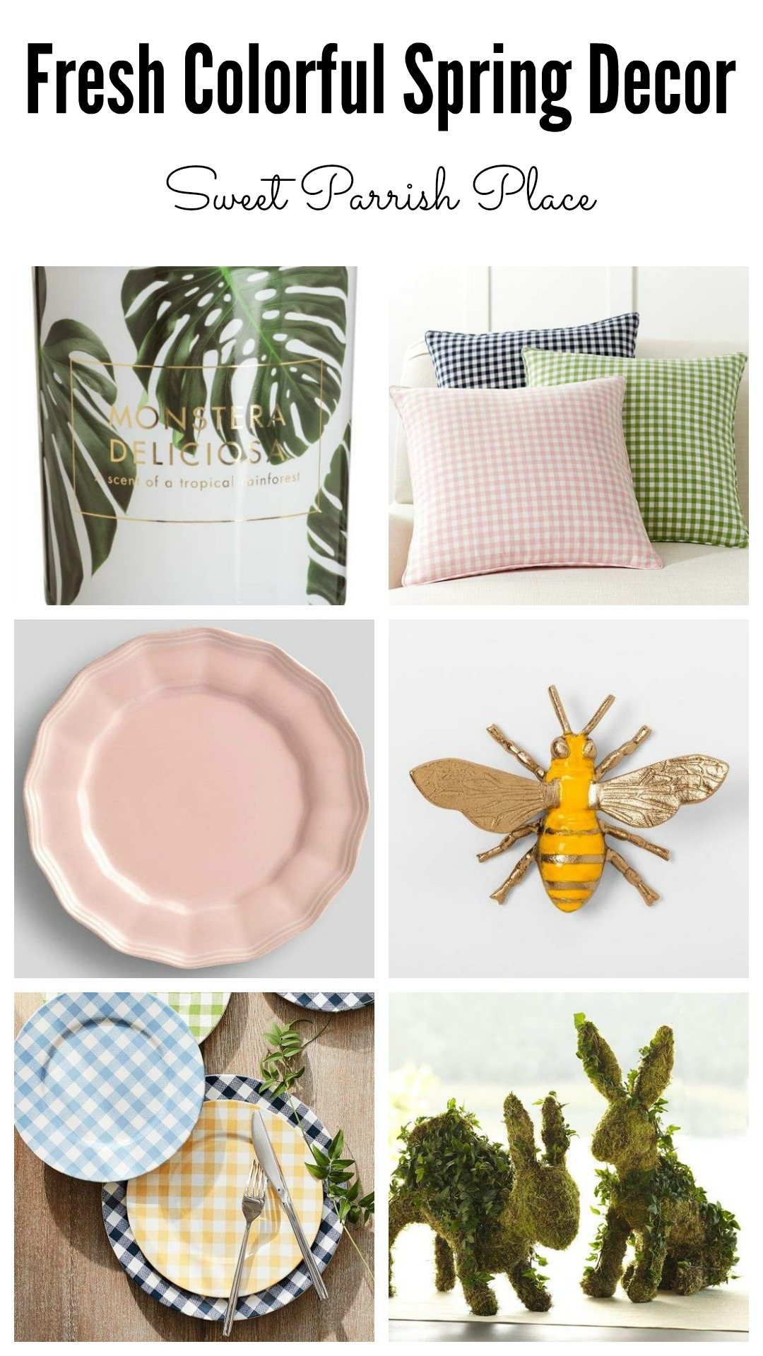 fresh colorful Spring decor