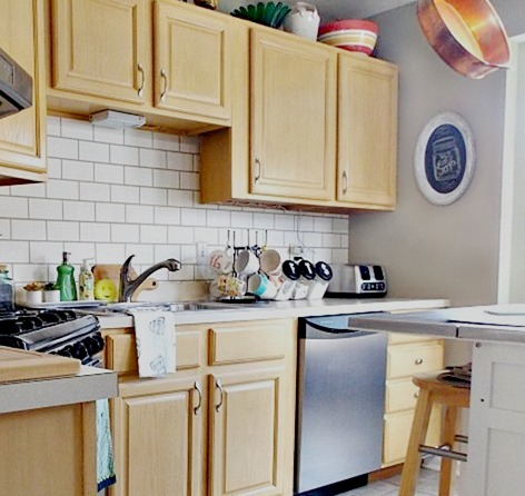 make your home look clean fast- wipe kitchen counters and sink