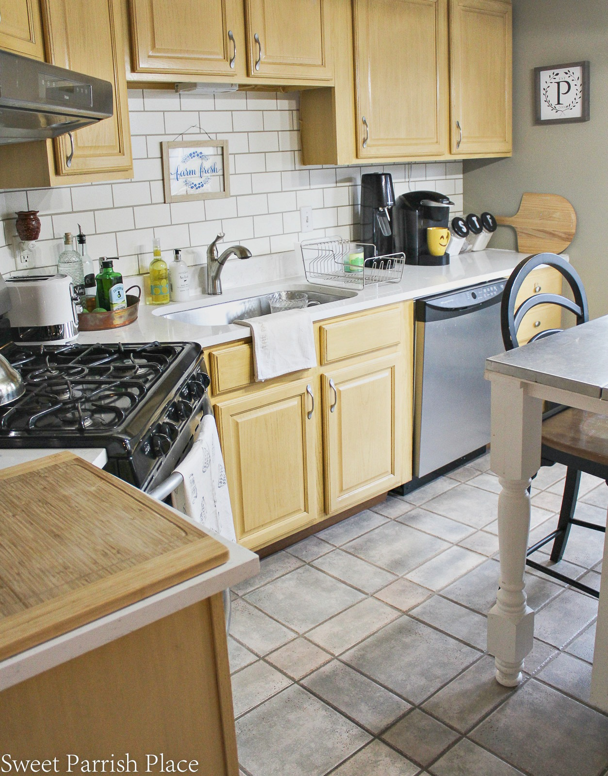 or mini countertops modern and friendly counter replace overlays make kitchen stove in how diy slabs to sink countertop installation