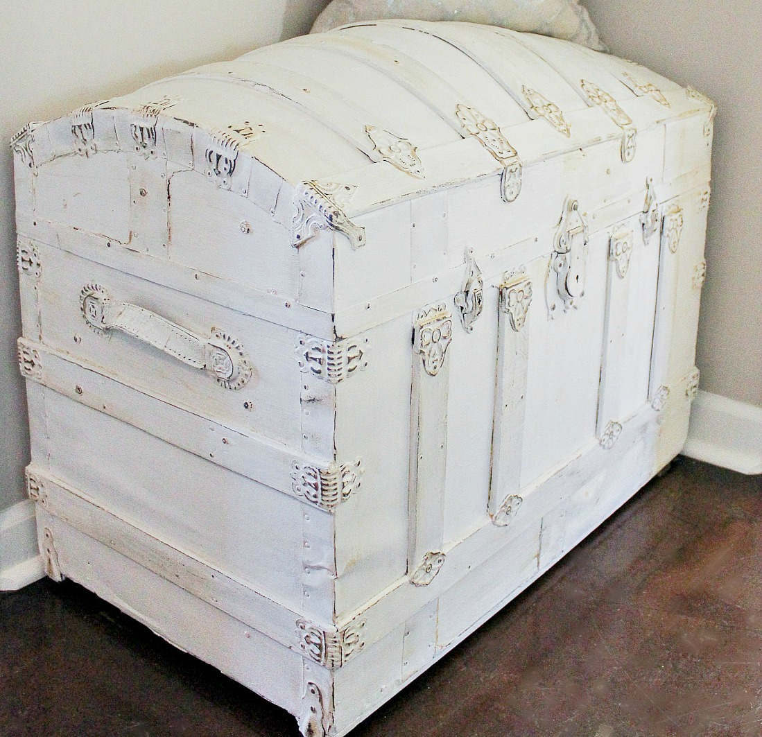 vintage trunk makeover after